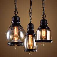 Vintage Pendant Light Dining Room Glass Ceiling Lamp Kitchen Lighting Bar Lights