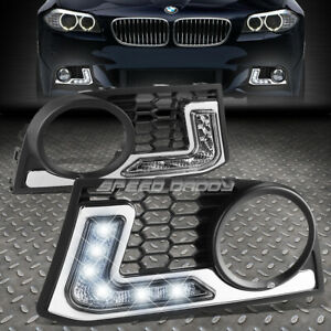 FOR 11-13 BMW F10 5-SERIES M-SPORT BUMPER FOG LED DRL DAY TIME RUNNING LIGHT