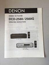 Denon DCD-2560/DCD-2560G CD Player Bedienungsanleitung original-NOS