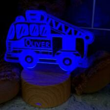 Personalised Fire Engine LED children's night lamp 7 Colour Changing LM-7