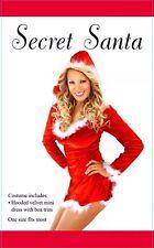 FANCY DRESS SECRET SANTA CLAUS COSTUME/HOODED VELVET CHRISTMAS OUTFIT🥰🥰🥰