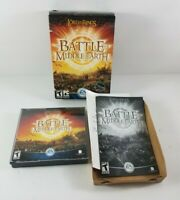 Lord of the Rings: The Battle for Middle Earth Box DVD-ROM PC Complete 4 Discs