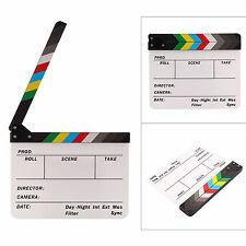 Acrylic Clap Clapper Board Clapperboard Film Movie Action Scene Slate 30x24CM L