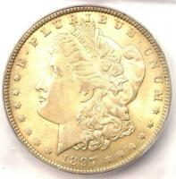1897-O Morgan Silver Dollar $1. ICG AU58 - Near MS UNC. Rare Date Certified Coin