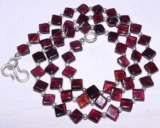 (eVB1051) Garnet Natural Gemstone  Beads  Necklace