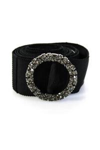 Lanvin Womens Ribbon Crystal Slide Belt Black One Size