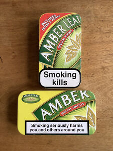 2 x Collectable Amber Leaf 50g Tobacco Tins, Special Edition