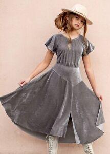 JOYFOLIE GIRLS SIZE 10 HARLEIGH DRESS IN STONE NWT