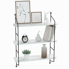 3 Tiers Floating White Wall Shelf