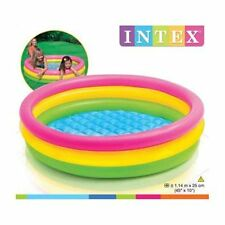 Intex INFLATABLE POOL Sunset Glow 1.14m x 25cm Small Children Toddler Kids Pool