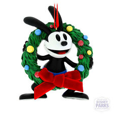 Disney Parks Christmas Ornament Oswald with Wreath the Lucky Rabbit