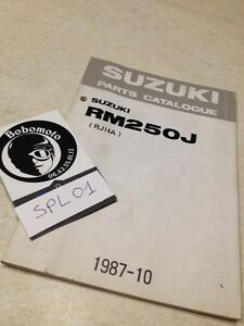 Suzuki Piezas List Catálogo RM250J RM250 J RM 250 RJ14A Edition 1987