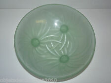 BELLE COUPE PATE de VERRE ETLING FRANCE N°63 COULEUR VERTE ART DECO