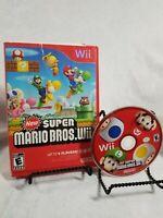 NINTENDO WII VIDEO GAME SUPER MARIO BROS Wii COMPLETE W CASE & MANUAL