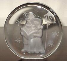 Danbury Mint 1984 Carolers Crystal Sculpture �Figurine� Paperweight w/Coa Signed