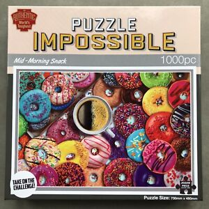 Puzzle Impossible Mid-morning Snack Doughnut 1000 Piece Jigsaw Puzzle