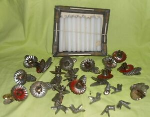 Alte Kerzenhalter Weihnachten Weihnachtsbaum Baumkerzenhalter + 15 Kerzen