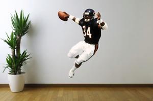 Walter Payton Sweetness Chicago Bears Fathead Style Wall Decal Sticker