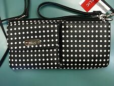 RELIC Evie Wristlet Wallet With Removable Shoulder Strap DOTS New!