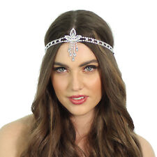 Kristin Perry 1920's Great Gatsby Inspired Crystal Pendant Headpiece