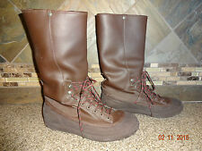 Womens NIKE Sz 7 EUR 38 Tall Brown Fleece Lined Boots Sticky Rubber Soles