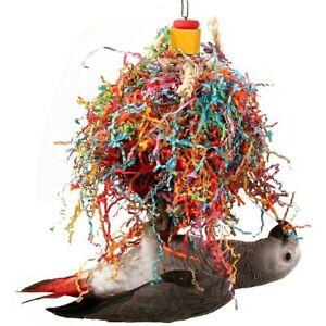 Plaited Pleasure Preening Vine & Paper Parrot Toy