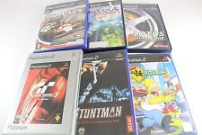 Sony PS2 Playstation 2 Simpsons Hit Run Stuntman Wipeout Fusion Gran Turismo 3