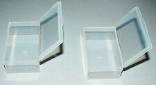 """2 x Small Tool Box Plastic Storage, Earplugs Case, Pill Box 2.5"""" x 1.5"""""""