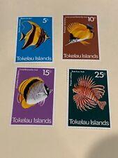 DR WONDER'S Tokelau Islands #45-48  Fish Unused NH (File30)