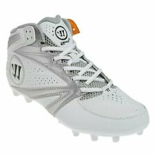 New listing Mens Warrior 2nd Degree 3.0 Lacrosse Mid Cleats White / Silver Sz 7.5 M