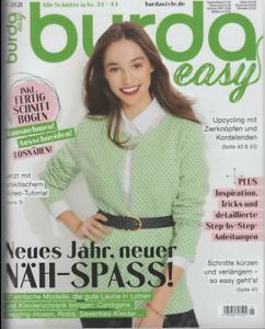 Burda Easy Ausgabe 1 Februar 2021 neu und ungelesen, mit allen Beilagen - Nähen
