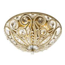 Sequina Specialty Antique Gold Ceiling Flush Mount Light Vintage Deco Victorian