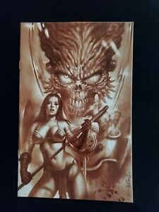 MARS ATTACKS RED SONJA #1 LUCIO PARRILLO VIRGIN VARIANT