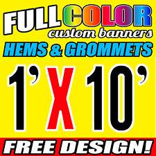 """16Oz Flex/ Vinyl /PVC Outdoor Indoor CUSTOM Banners with FREE DESIGN(12"""" x 120"""")"""