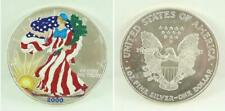 U.S.A. Painted 2000 Walking Liberty $1.00 / One Dollar .999 Fine Silver Coin