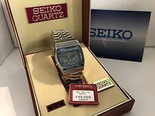 Reloj Cronógrafo Seiko A239-502A Hora Mundial Alarma Cuarzo LCD Coleccionable