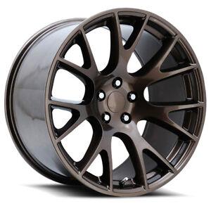 4 - 24x10 Bronze Wheel V1180 Dodge Ram Challenger Hellcat Rims 5x5.5 5x139.7