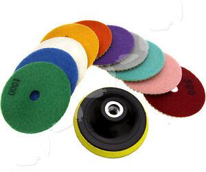 Diamond Polishing Pad 10pcs Grinding Disc For Granite Marble Concrete Stone