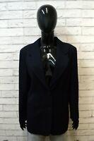 LUISA SPAGNOLI Giacca Taglia XL Slim Blazer Jacket Women Cappotto Blu Donna Lana