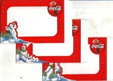 ltc 14 COCA COLA Lotto 3 cartoline pubblicitarie portafotografie