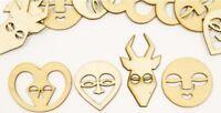 12 Confettis Bois Masques Africains Décoration Table Fête Fantôme Halloween NEUF