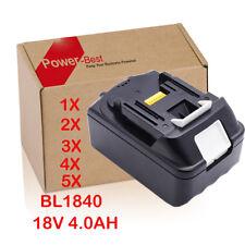 18V 4,0AH Makita Batterie BL1815 BL1830 BL1840 , 18V Makita Chargeur DC18RC FR