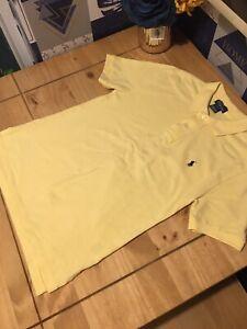 Yellow Womens Ralph Lauren Polo Shirt Size M 10-12