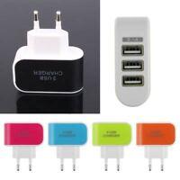 Home Eu Plug Adapter Wall AC Charger 3.1a 220V Triple USB Port for Samsung Htc