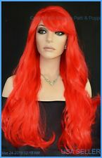Long Wig FLOWING SOFT WAVES SEXY COLOR CHERRY FIRECRACKER RED FAST SHIP 1338