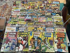 Collection 74 Comic Books Xfactor, Iron Man, Animal Man, Legion Super-Heroes Etc