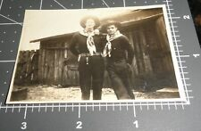1930's Affectionate COWBOYS Men FRIENDS Warsaw IN Man Vintage Gay Snapshot PHOTO