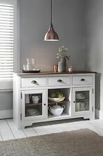 Sideboard Canterbury in White and Dark Pine Cupboard 3 Drawer