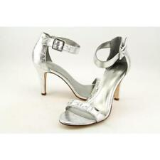 Sandalias y chanclas de mujer de tacón alto (más que 7,5 cm) de color principal plata talla 38