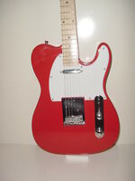 NEW  Red T Style 6 String Electric Guitar  Maple Fret Board with Gig Bag